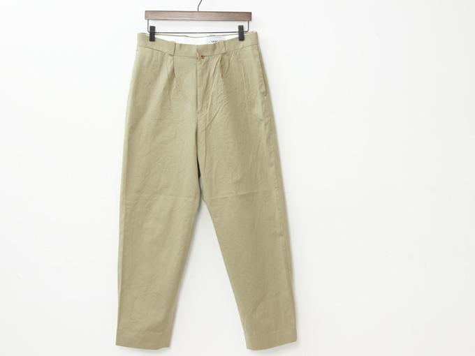 YAECA (ヤエカ) CHINO CLOTH PANTS TACK TAPERD
