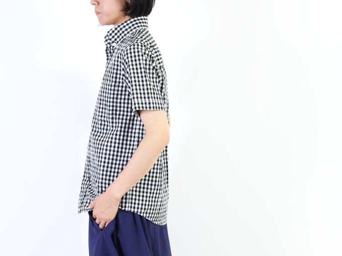 nisica(ニシカ) 半袖チェックボタンダウンシャツ