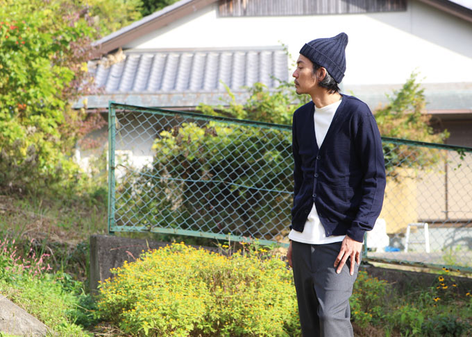 MASTER & Co.(マスターアンドコー) WHOLE GARMENY WASHABLE KNIT CARDIGAN