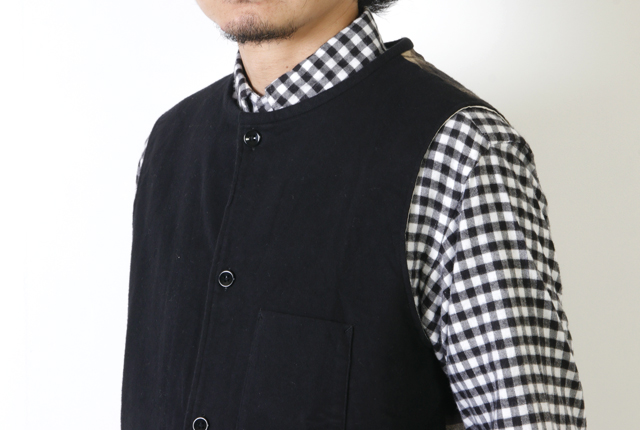 nisica(ニシカ) Cotyle別注 ネルコットン切替ベスト