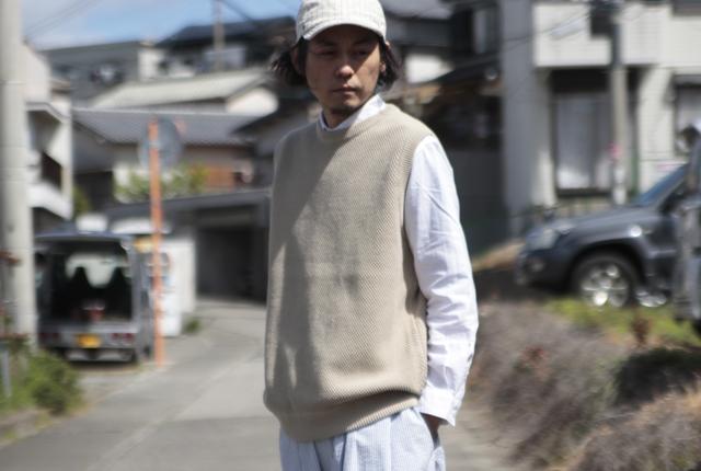 crepuscule(クレプスキュール) moss stitch vest