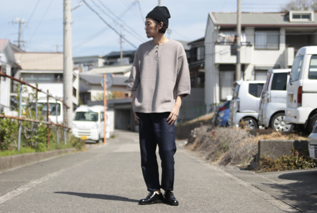 crepuscule (クレプスキュール) moss stitch S/S skipper