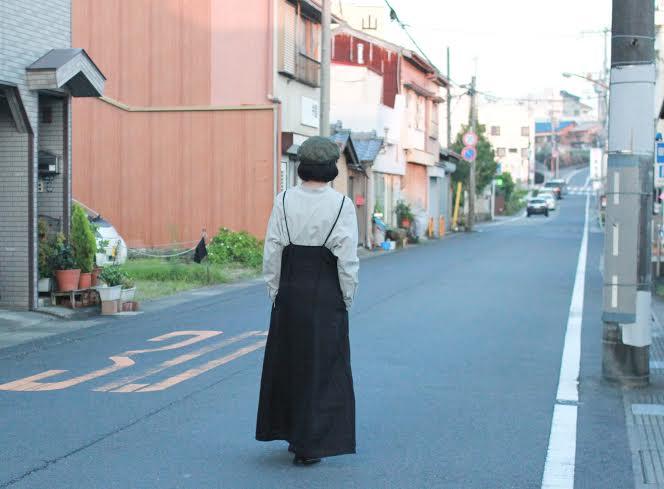 秋モノ続々!キャミワンピ×シャツコーデ