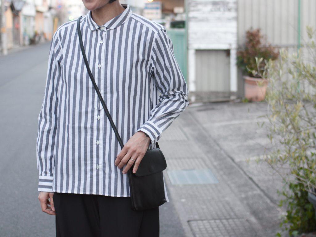 春はやっぱりストライプ!【MidiUmi ロンドンストライプラウンドカラーシャツ】