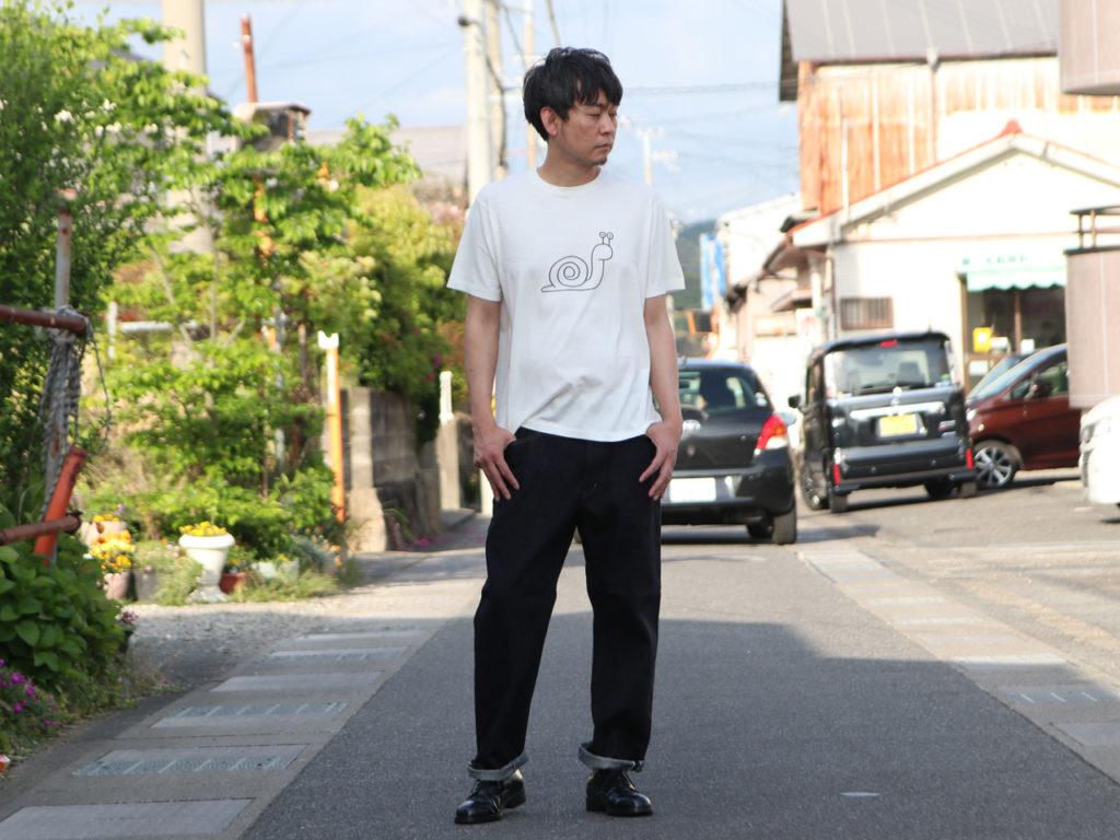 YAECA (ヤエカ) Ken Kagami PRINT TEE snail