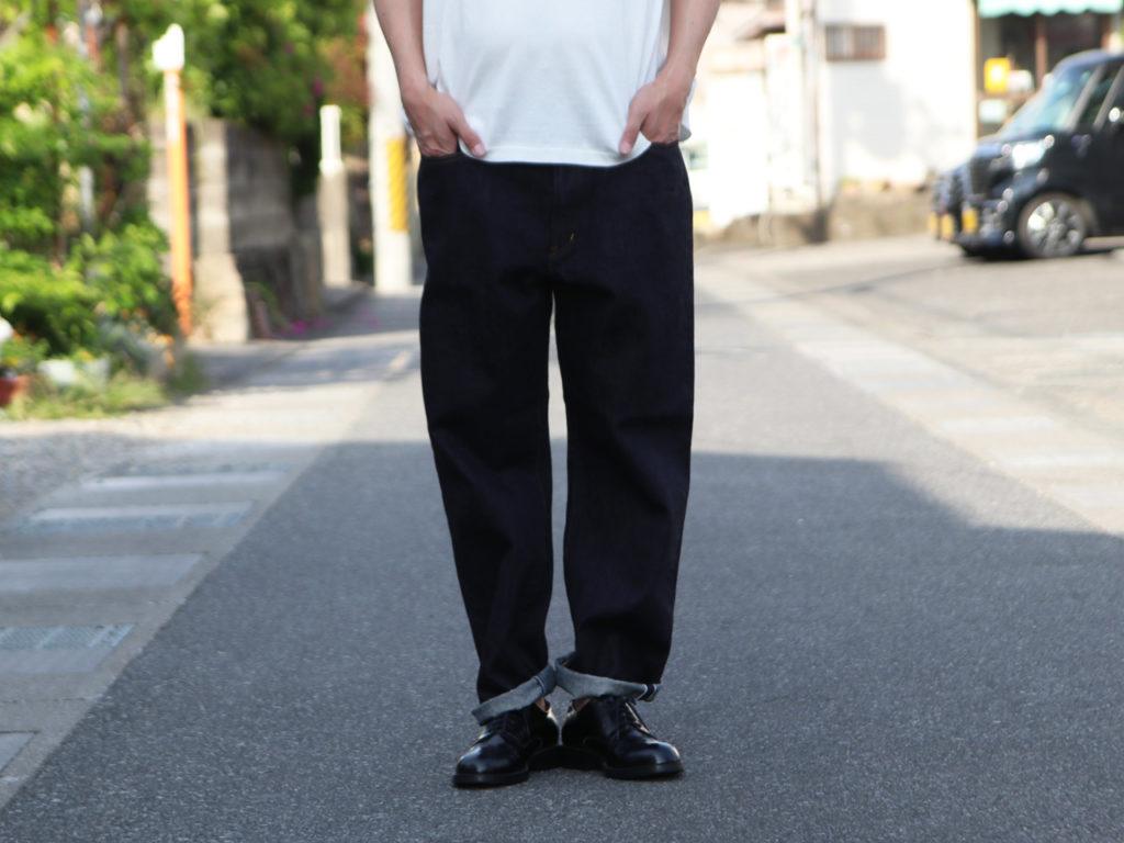 YAECA (ヤエカ) 10-14W DENIM PANTS WIDE TAPERED