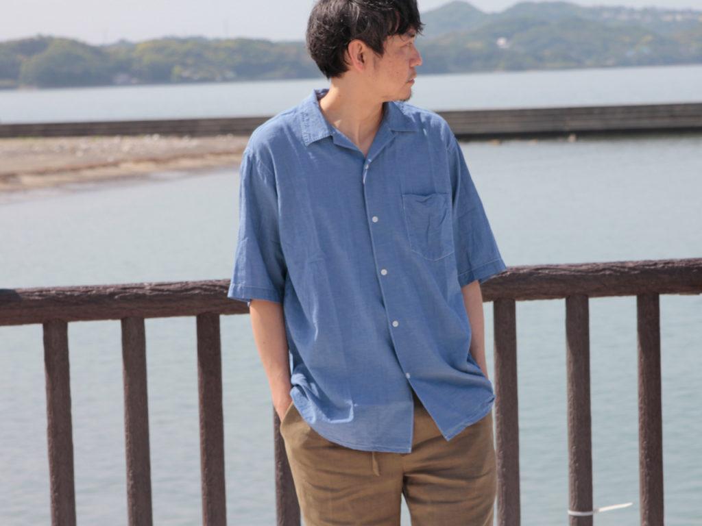 COMOLI (コモリ)ベタシャン オープンカラーシャツ
