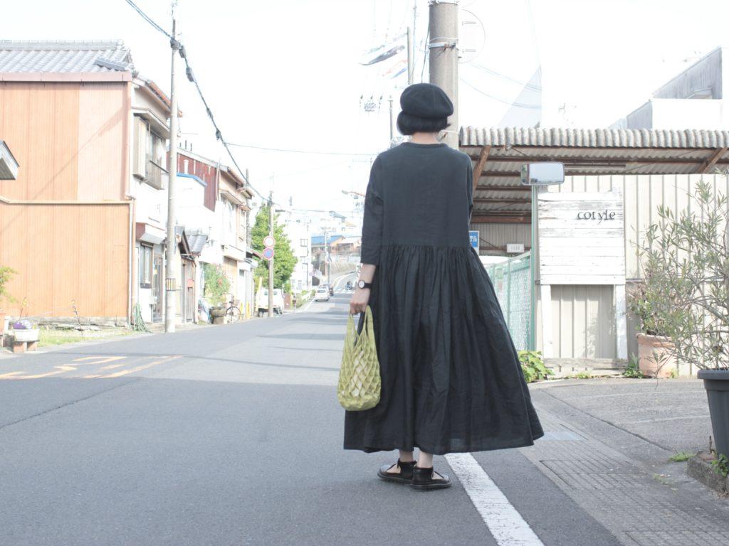ワンピとバッグでワンツーコーディネート【Gauze#×ANVOCOEUR】
