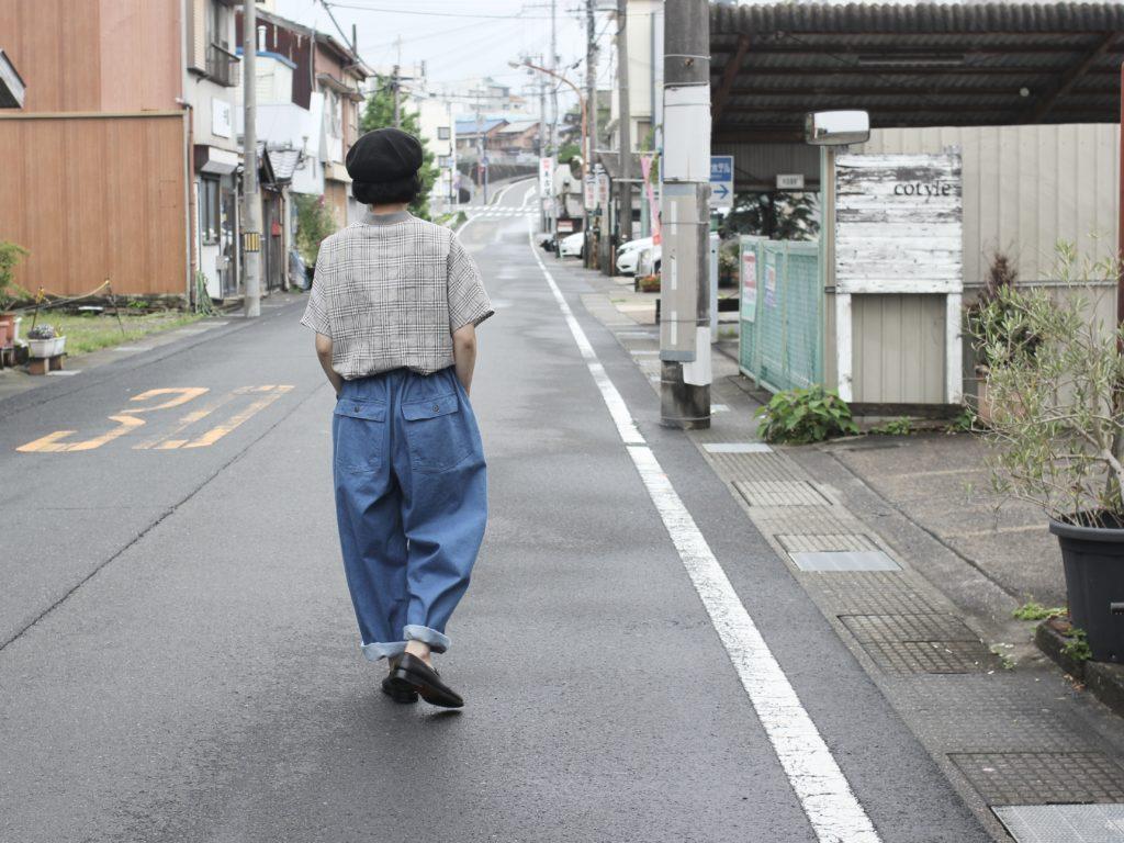 雨コーデ CHECK & BLUE 【Atelier d'antan × ORDINARY FITS】